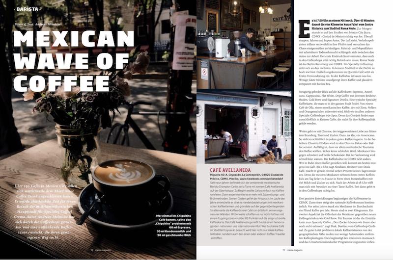 Mexiko City Coffee Guide Kaffee Reportage